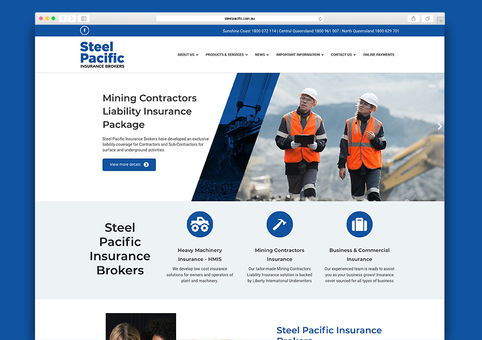 New site of the week - Steel Pacific Insurance