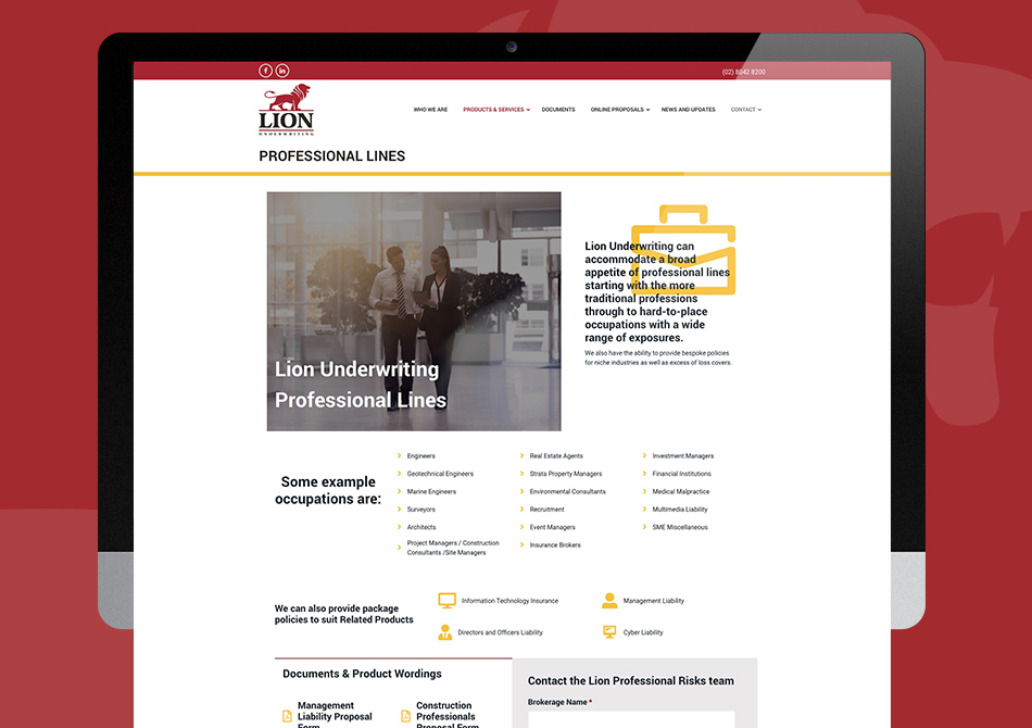 New Site Launch - Lion Underwriting