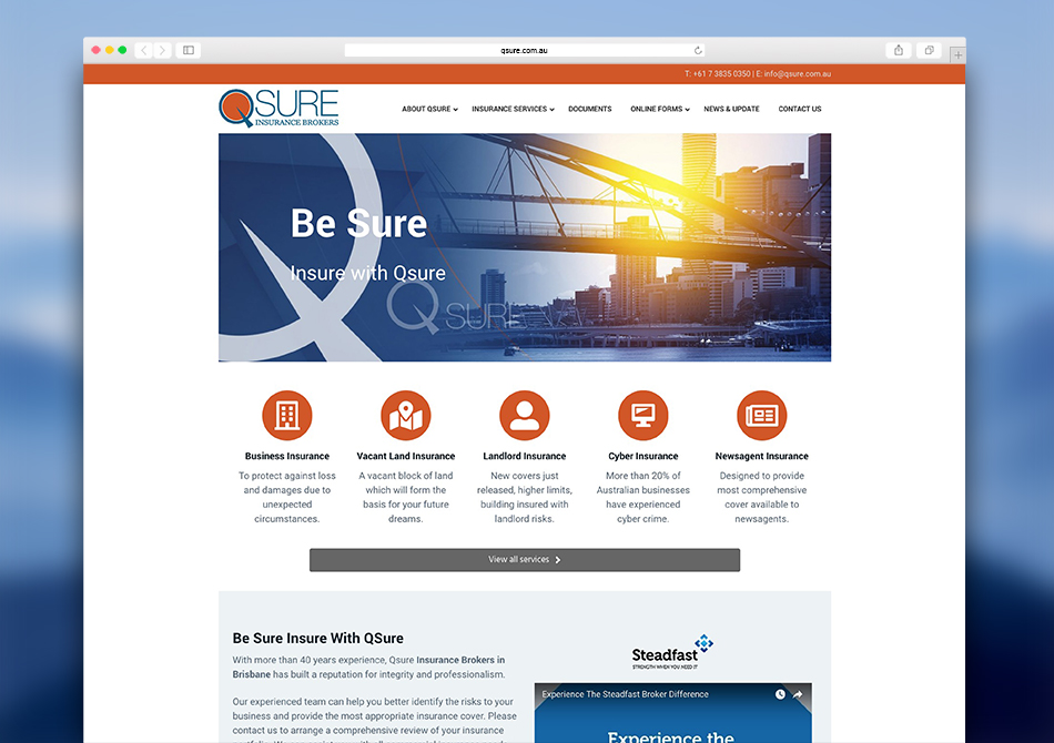 A refreshed online presence for Q-Sure Insurance